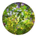 Maine Impasto WIldflowers Round Car Magnet