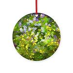 Maine Impasto WIldflowers Round Ornament