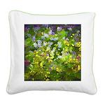 Maine Impasto WIldflowers Square Canvas Pillow
