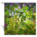 Maine Impasto WIldflowers Shower Curtain