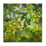 Maine Impasto WIldflowers Tile Coaster