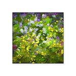 Maine Impasto WIldflowers Square Sticker 3