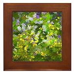 Maine Impasto WIldflowers Framed Tile