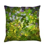 Maine Impasto WIldflowers Everyday Pillow