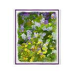 Maine Impasto WIldflowers Throw Blanket