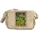Maine Impasto WIldflowers Messenger Bag
