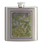 Maine Impasto WIldflowers Flask