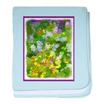Maine Impasto WIldflowers baby blanket