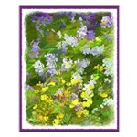 Maine Impasto WIldflowers Small Poster
