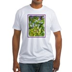 Maine Impasto WIldflowers Fitted T-Shirt