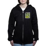 Maine Impasto WIldflowers Women's Zip Hoodie