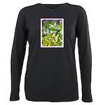 Maine Impasto WIldflower Plus Size Long Sleeve Tee