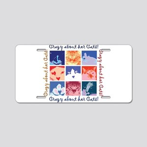 Crazy About Her Cats Aluminum License Plate