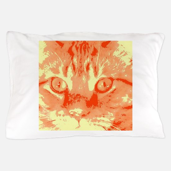 Orange Tabby Cat Pop Art Pillow Case