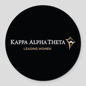 Kappa Alpha Theta Leading Women Round Car Magnet