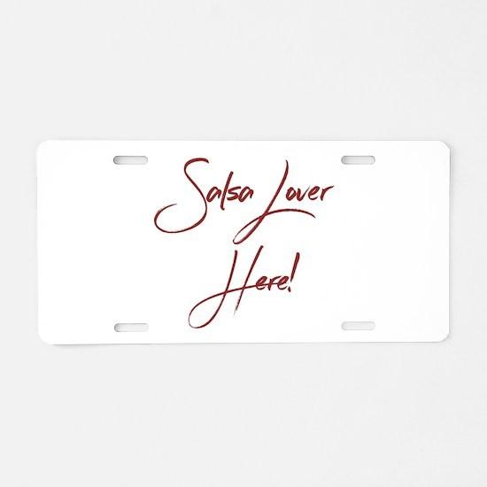Salsa Lover Aluminum License Plate