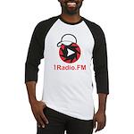 1Radio.FM - Dark Logo Baseball Jersey
