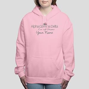 Alpha Gamma Delta Person Women's Hooded Sweatshirt
