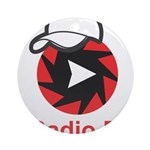 1Radio.FM - Dark Logo Round Ornament