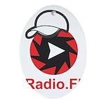 1Radio.FM - Dark Logo Oval Ornament