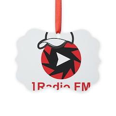 1Radio.FM - Dark Logo Picture Ornament