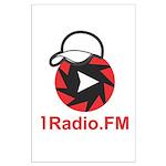 1Radio.FM - Dark Logo Poster