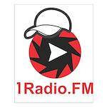 1Radio.FM - Dark Logo Mini Poster