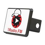 1Radio.FM - Dark Logo Rectangular Hitch Cover