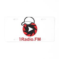 1Radio.FM - Dark Logo Aluminum License Plate