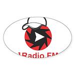 1Radio.FM - Dark Logo Sticker