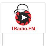 1Radio.FM - Dark Logo Yard Sign