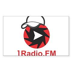 1Radio.FM - Dark Logo Stickers