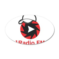 1Radio.FM - Dark Logo Wall Decal Sticker