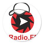 1Radio.FM - Dark Logo Round Car Magnet