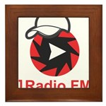 1Radio.FM - Dark Logo Framed Tile