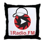 1Radio.FM - Dark Logo Throw Pillow