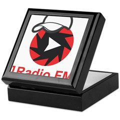 1Radio.FM - Dark Logo Keepsake Box