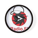 1Radio.FM - Dark Logo Wall Clock