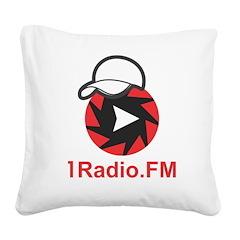 1Radio.FM - Dark Logo Square Canvas Pillow