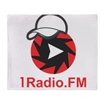 1Radio.FM - Dark Logo Throw Blanket