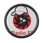 1Radio.FM - Dark Logo Large Wall Clock
