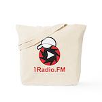 1Radio.FM - Dark Logo Tote Bag