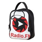 1Radio.FM - Dark Logo Neoprene Lunch Bag
