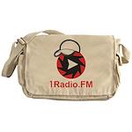 1Radio.FM - Dark Logo Messenger Bag