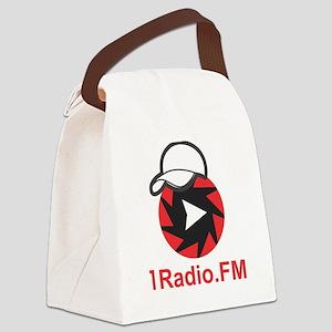 1Radio.FM - Dark Logo Canvas Lunch Bag