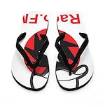 1Radio.FM - Dark Logo Flip Flops