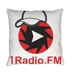 1Radio.FM - Dark Logo Everyday Pillow