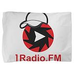 1Radio.FM - Dark Logo Pillow Sham