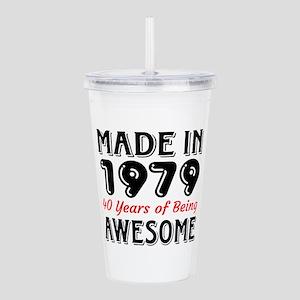 Made In 1977 40 Years Acrylic Double-wall Tumbler