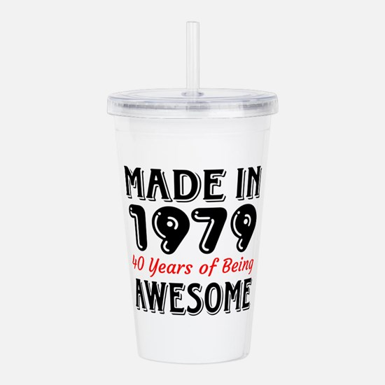 Made In 1977 40 Years Acrylic Double-wall Tumbler